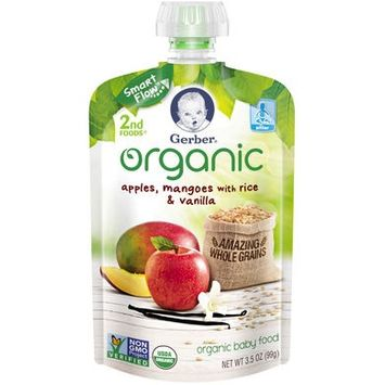 Gerber® Organic 2nd Foods® Baby Food | Apples Mangoes With Rice & Vanilla