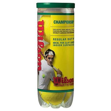 Wilson Championship Regular Duty Tennis Balls - 3-Ball Can