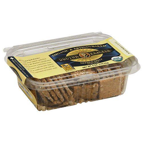 Dr Kracker Doctor Kracker Seeded Spelt Snackers Crackers, 6 oz, (Pack of 6)