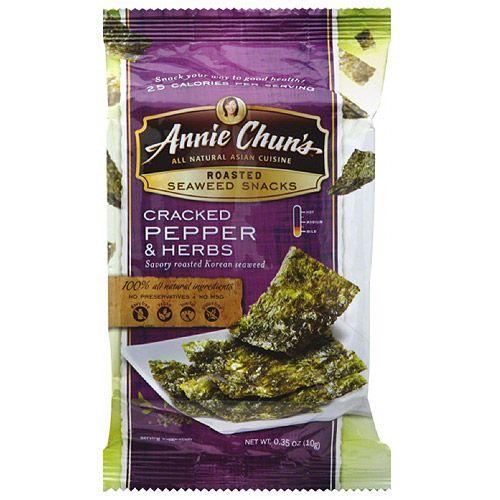 Annie Chun's Cracked Pepper & Herbs Roasted Seaweed Snacks