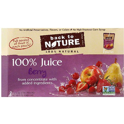 Back to Nature 100% Berry Juice, 6 fl oz, 8 count, (Pack of 5)