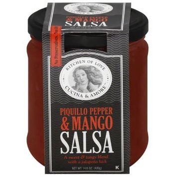 Cucina & Amore Piquillo Pepper & Mango Salsa, 14.8 oz, (Pack of 6)