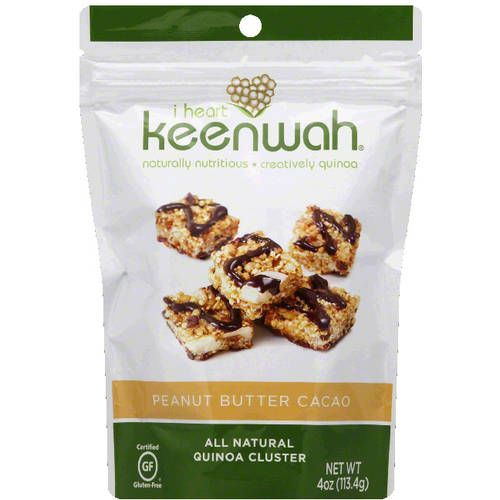 I Heart Keenwah Peanut Butter Cacao Quinoa Cluster, 4 oz, (Pack of 12)