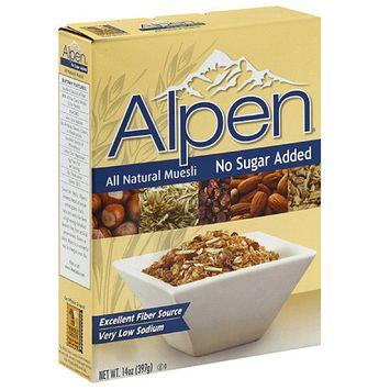 Alpen All Natural No Sugar Added Muesli, 14 oz (Pack of 12)