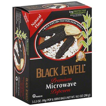 Black Jewell Premium Microwave Natural Popcorn, 10.5 oz (Pack of 6)