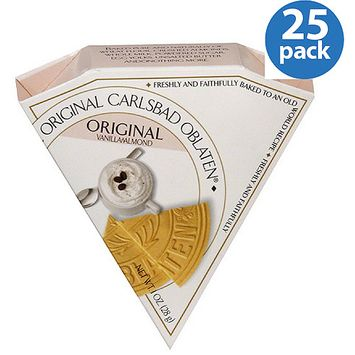 Original Carlsbad Oblaten Carlsbad Oblaten Original Vanilla Almond Dessert Wafers, 1 oz, (Pack of 24)