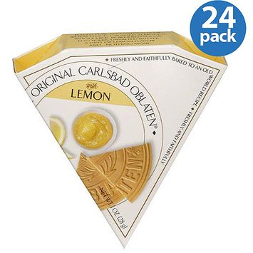 The Original Carlsbad Oblaten Wafers with Lemon, 1 oz, (Pack of 24)