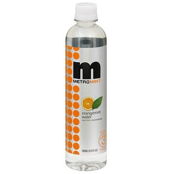 Metromint Orangemint Water, 16.9 fl oz, (Pack of 12)