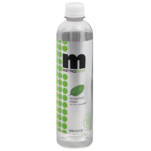Metromint Spearmint Water, 16.9 fl oz, (Pack of 12)