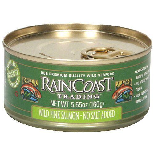 Raincoast Trading No Salt Added Wild Pink Salmon, 5.65 oz (Pack of 12)