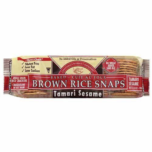 Edward & Sons Tamari Sesame Brown Rice Snaps, 3.5 oz, (Pack of 12)