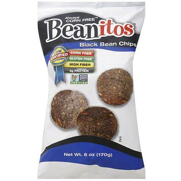 Beanitos Black Bean Chips, 6 oz, (Pack of 6)