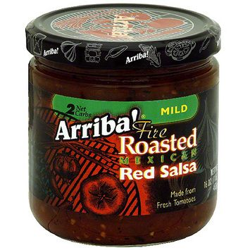 Arriba Mild Fire Roasted Mexican Red Salsa, 16 oz (Pack of 6)