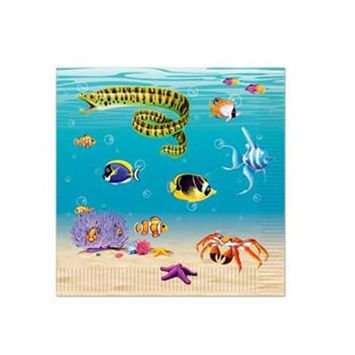 Beistle 58116 Under The Sea Luncheon Napkins - Pack of 12