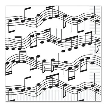 Beistle 58113 Musical Note Luncheon Napkins Pack of 12