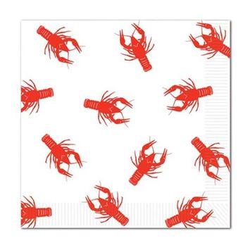 Beistle 58126 Crawfish Luncheon Napkins - Pack of 12