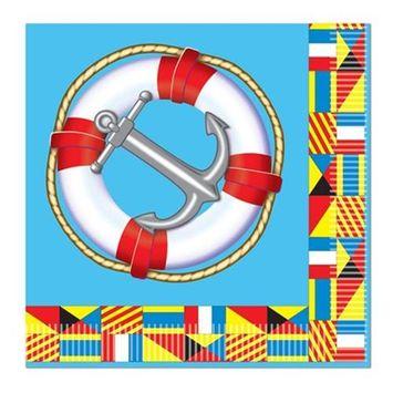 Beistle 58161 Nautical Beverage Napkins - Pack of 12