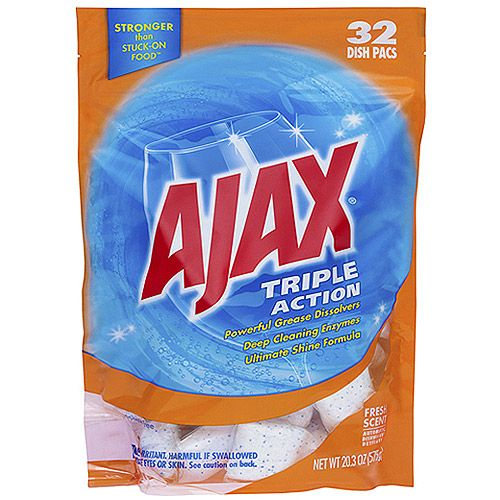 Colgate 44423 Triple Action Automatic Dishwasher Detergent Packs Fresh Scent 32/pack