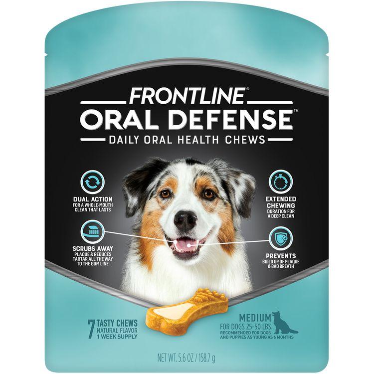 FRONTLINE Oral Defense Chews for Medium Dog (25-50 lbs)
