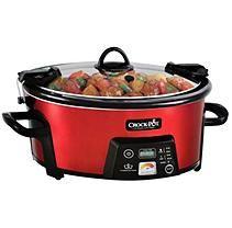 Oster Crock-Pot 6 Qt Cook & Travel Serve - Red
