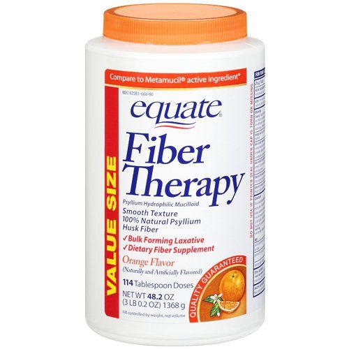 Equate Fiber Orange Powder, 48.2oz, 114 Doses
