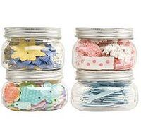 "Making Memories Storage Jars Medium 4/Pkg - 4""X2.5"