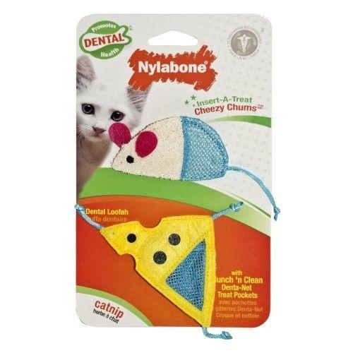 Nylabone Cat Dental Insert-A-Treat Cheezy Chums Treat Holder