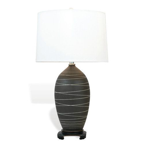 "Ball Port 68 Saturn 29"" H Table Lamp with Drum Shade"