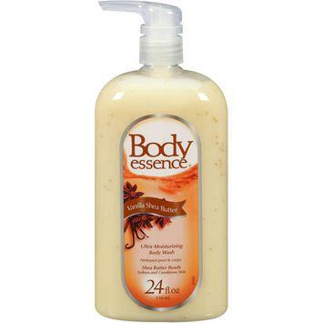 Body Essence Ultra-Moisturizing Vanilla Shea Butter Body Wash, 24 oz