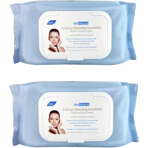 BioMiracle Makeup Cleansing Towelettes, 120ct