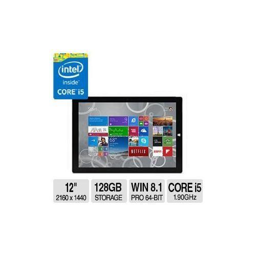 "Microsoft Corp. Microsoft - Surface Pro 3 - 12"" - Intel Core I5 - 128GB - Silver"
