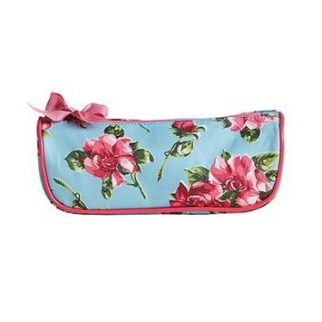 Jessie Steele 902-JS-250S Pink Magnolias Brush Cosmetic Bag Pack Of 2