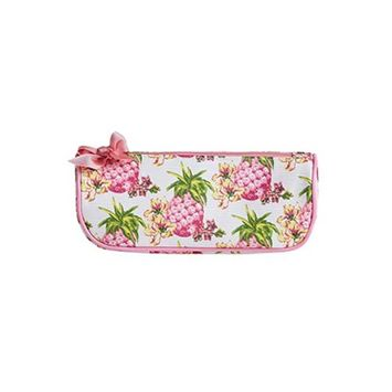 Jessie Steele 902-JS-249S Pink Pineapples Brush Cosmetic Bag Pack Of 2