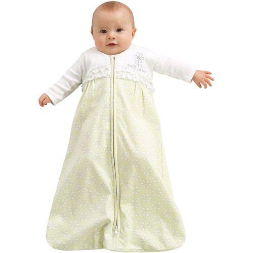 HALO SleepSack Wearable Blanket 100% Cotton - Sage Eyelet