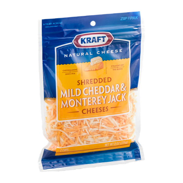 Kraft Mild Cheddar & Monterey Jack Cheeses Shredded