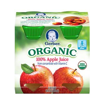 Gerber® Organic 100% Juice Apple