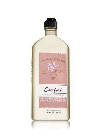 Bath & Body Works® Aromatherapy COMFORT - VANILLA & PATCHOULI Body Wash & Foam Bath