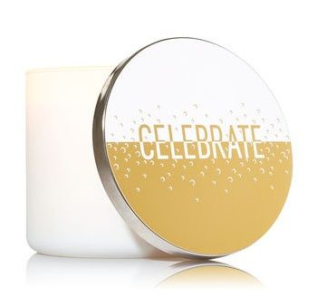 Bath & Body Works® CELEBRATE 3-Wick Candle with Lid Magnet