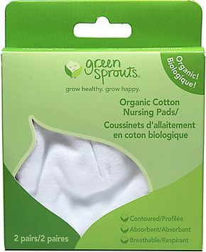 i Play - Organic Cotton Flannel Nursing Pads - 2 Pack