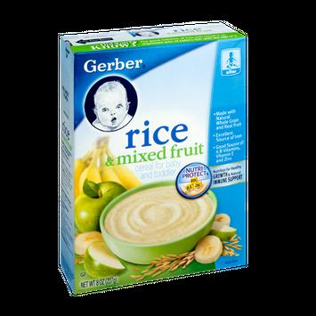 Gerber® Baby Toddler Cereal Rice & Mixed Fruit
