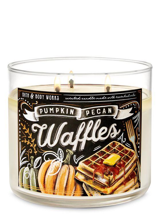Bath & Body Works Pumpkin Pecan Waffles 3-Wick Candle