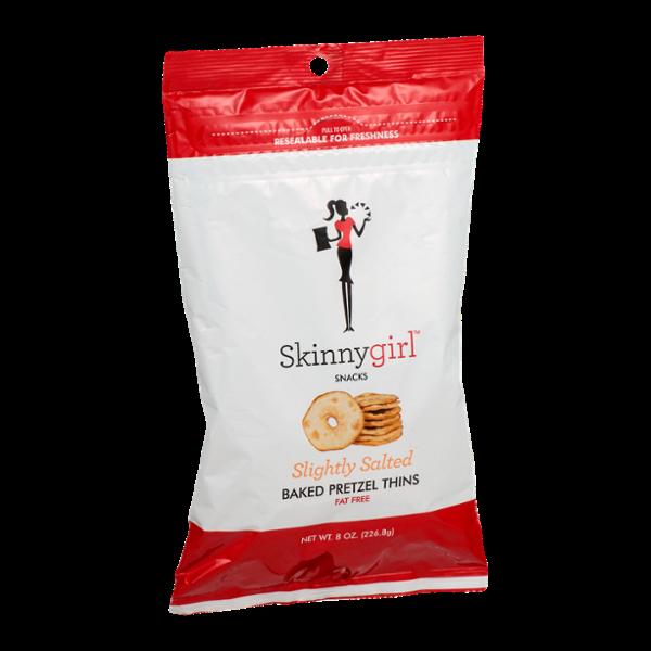 Skinnygirl Snacks Baked Pretzel Thins Slightly Salted