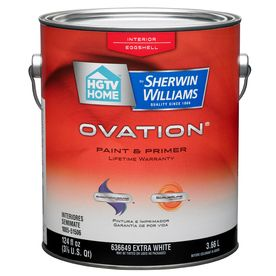 HGTV HOME by Sherwin-Williams Ovation Interior Eggshell Tintable White Latex-Base Paint and Primer in One (Actual Net Contents: 124-fl oz) OV0023001-16
