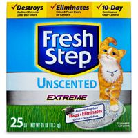 Fresh Step Extreme Unscented Odor Control Scoopable Clumping Cat Litter