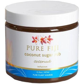 Pure Fiji Coconut Sugar Rub Coconut, 15.5 Ounce