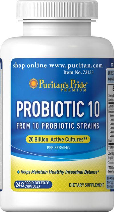 Puritan's Pride Probiotic 10-240 Capsules