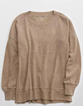 AE Aerie Cozy Good Vibes Oversized Sweatshirt