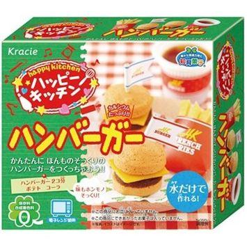 Popin' Cookin' Happy Kitchen Hamburger Popin' Cookin' kit DIY candy by Kracie