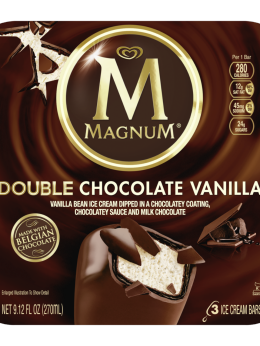 Magnum Double Chocolate Vanilla Ice Cream Bar