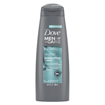 Dove Men+Care Eucalyptus + Birch Revitalizing 2-in-1 Shampoo + Conditioner